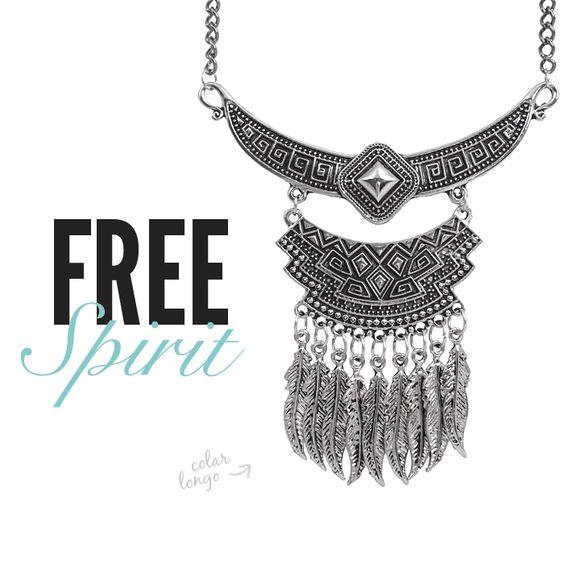 Colar longo boho! #freespirit #boho #bohochic #bohostyle #newsletter #accessories #amomuitoacessorios #amomuito #colarlongo