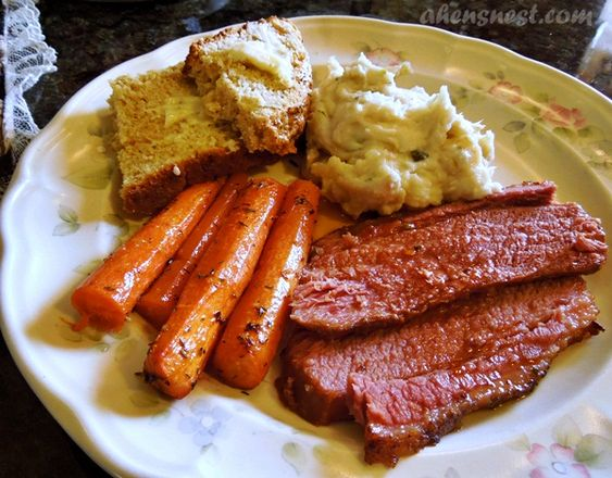 Sweet & Spicy Foil Roasted Corned Beef #recipe