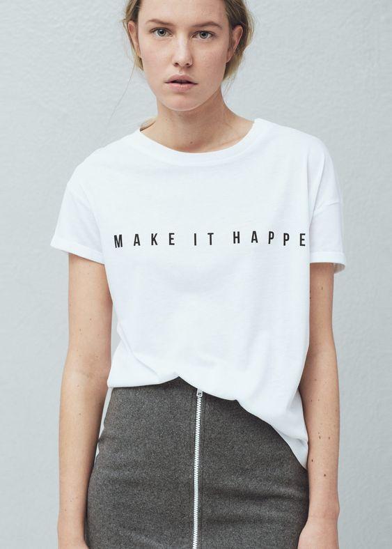 Camiseta mensaje modal