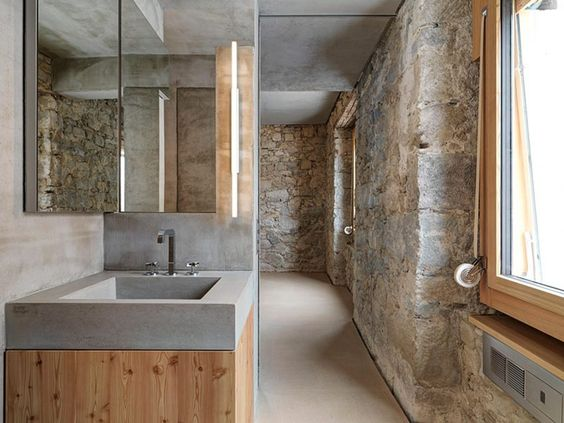 natural stone wall by gus wustemann   bathroom   pinterest, Hause ideen