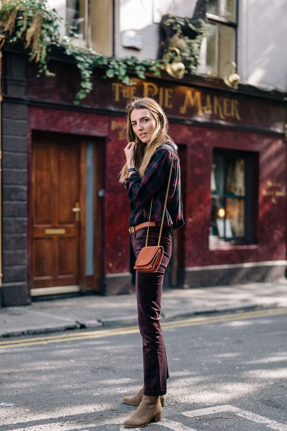 How to Style Velvet Pants for Fall, Jess Kirby in Galway, Ireland