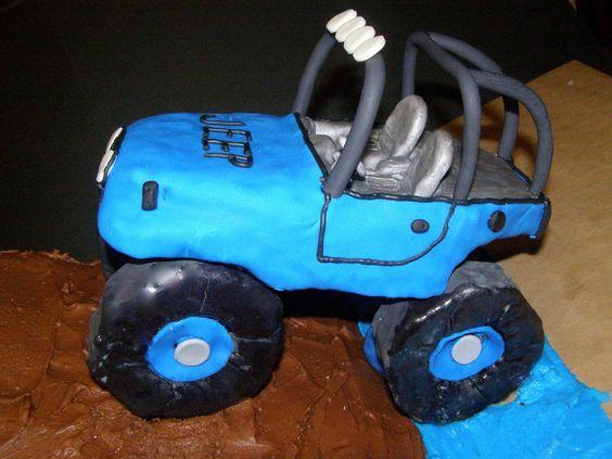 JEEP cake! Awesome!