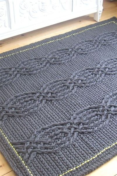 Crochet pattern rope rug real studio projects for for Rope carpet