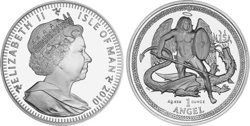 2010 High Relief Silver Angel Coin