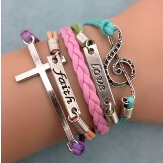 Love faith cross religious Christian bracelet new Infinity bracelet as pictured colors May look different on bracelet than picture shows. Sometimes it is hard to get an accurate picture. Bundle with another bracelet 2/$12. Jewelry Bracelets