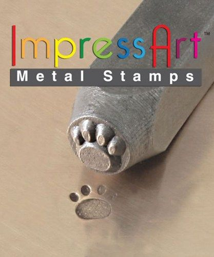 Metal Design Stamp By Impressart 3mm Small Paw Print