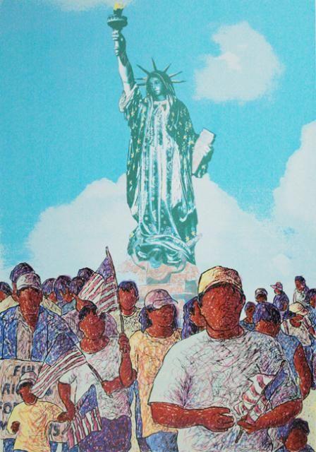 Tony Ortega  La Marcha de Lupe Liberty, 2006  Screenprint