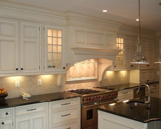 Decorative glass kitchen hood design pictures remodel for Kitchen hood designs ideas