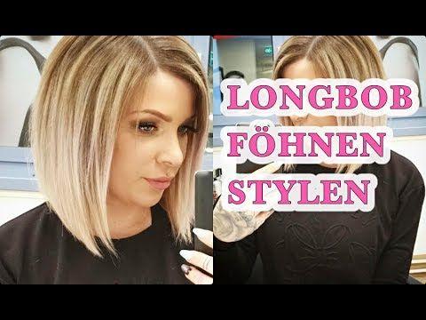 Wie Fohne Und Style Ich Meinen Longbob Jenny Konig Youtube Bob Frisur Bob Frisur Richtig Stylen Longbob Frisuren Feines Haar