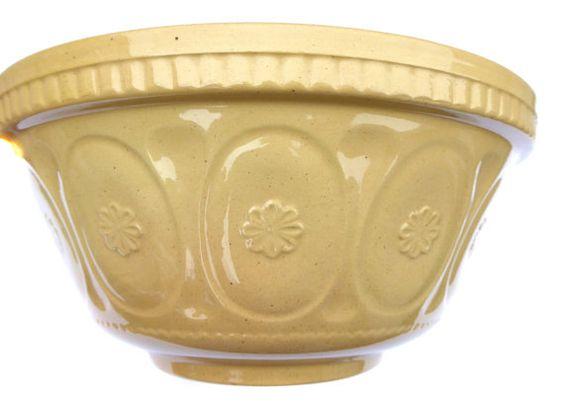 1950s Mixing Bowl 1950s Stoneware Vintage Mixing by BiminiCricket