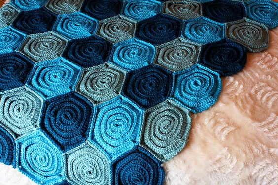 Crochet Rose Pattern Step By Step : Crochet Rose Blanket pattern with step-by-step tutorial ...