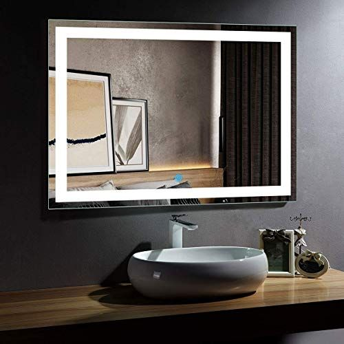New Dp Home Large Illuminated Lighted Makeup Mirror Led Wall Mounted Backlit Bathroom Vanity Mirror With Touch In 2020 Led Mirror Bathroom Led Mirror Bathroom Mirror