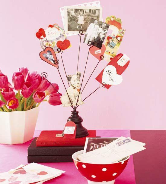 basteln valentinstag karten fotos schreibtisch