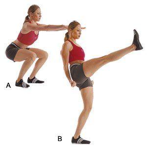 Squat Kicks!  A new favorite