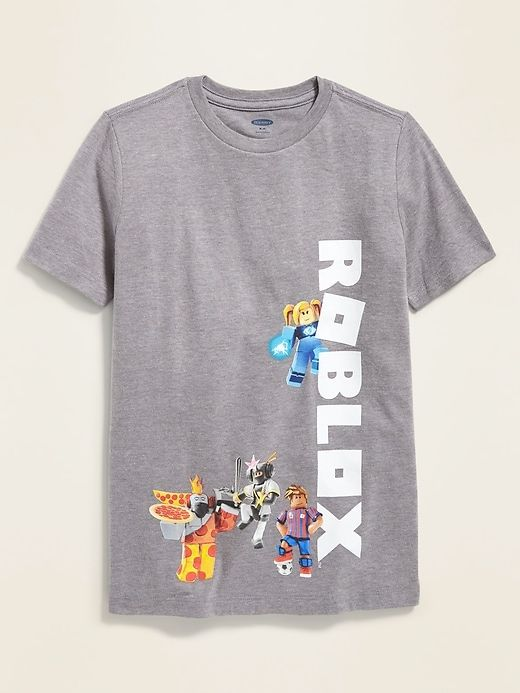 Cool Kid Jeans Roblox Old Navy Boys Roblox Graphic Tee Heather Gray Regular Size Xxl Cool Kids T Shirts Graphic Tees Kids Tshirts