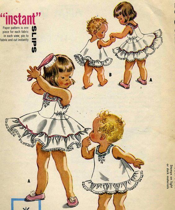 Vintage Mccalls 2130 CUT/complete Toddler Petticoat by RomasMaison, $20.00
