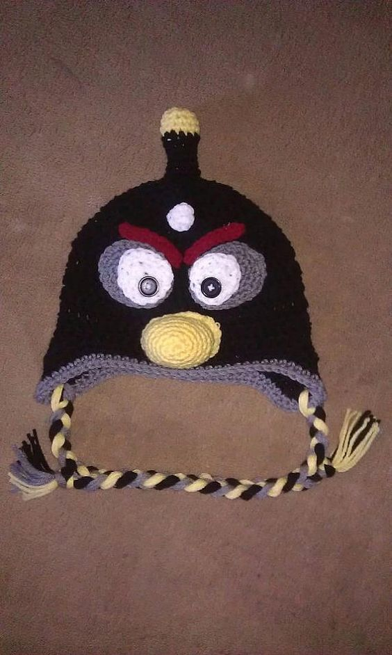 Black angry bird inspired you choose size by madicyn09lee on Etsy, $16.00