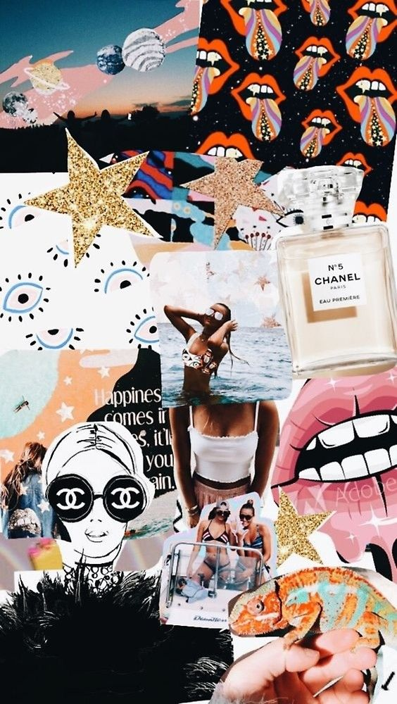 Edge Mix Collage Spiral Notebook By Crumpetstrumpet In 2021 Fashion Wallpaper Tumblr Wallpaper Collage Background