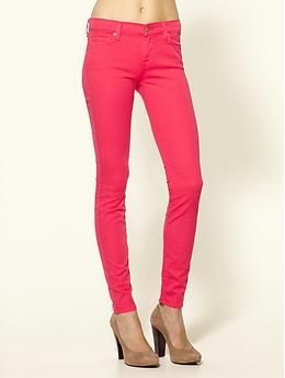 Call me crazy, but i love bright coloured jeggings and jeans!