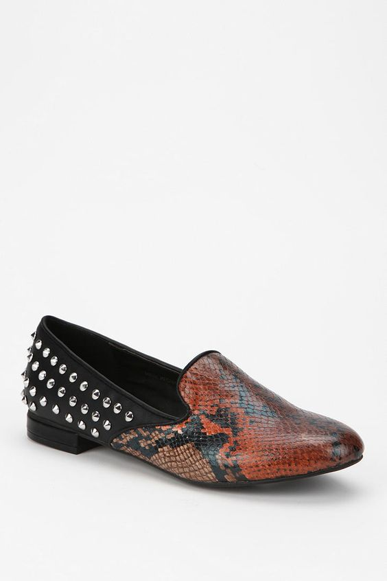 Deena & Ozzy Split/Stud Loafer Online Only New Colors Available