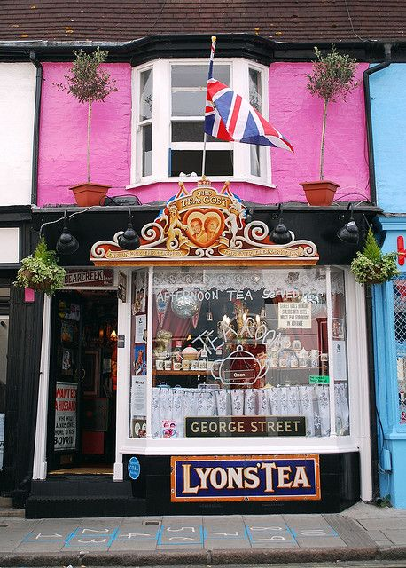 ~The Tea cosy tea rooms Brighton, UK if you are ever in the area do pop in, they do the most wonderful afternoon tea and you can amuse yourself looking at the thousands of pieces of royal memorabilia~