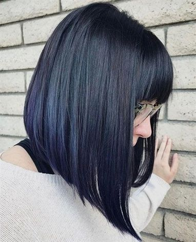 Long Inverted Bob With Bangs Long Bob Haircut With Bangs Lob Haircut With Bangs Long Bob Haircuts