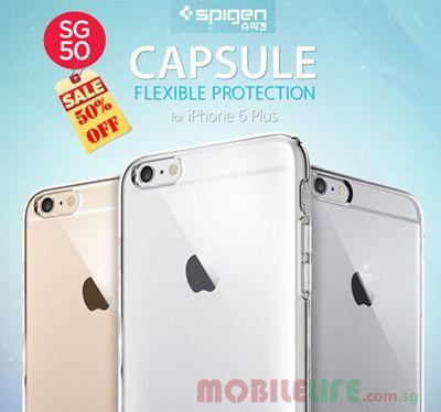 Spigen iPhone 6 Plus Capsule Crystal Clear case