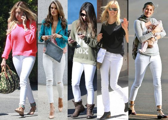 White jeans is the latest trend to hit Hollywood! From red carpets