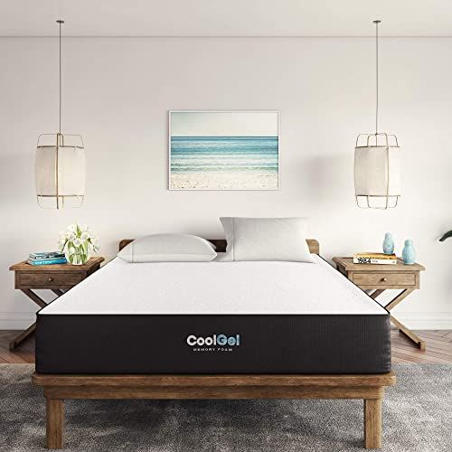New Classic Brands Cool Ventilated Gel Memory Foam 10 Inch Mattress Full White Full Size Mattre In 2020 Gel Memory Foam Cool Gel Mattress Memory Foam Mattress Topper