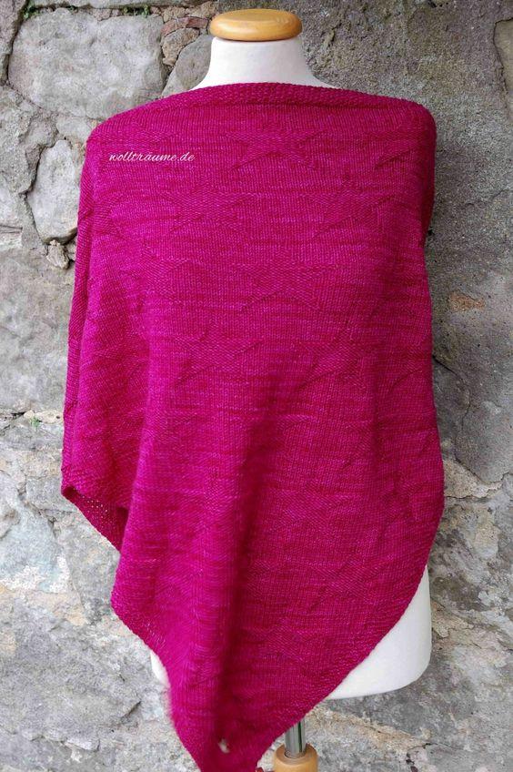 handgefärbte-Wolle-Strickpackung Traumsternetuch wollträume, Merino Lifestyle, handgefärbt, handgefaerbte Wolle, Wolltraeume, Dreieckstuch