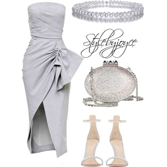 Engagement//Wedding by styledbyjmini on Polyvore featuring polyvore, fashion, style, Maticevski, Gianvito Rossi, Christian Louboutin and Trianon