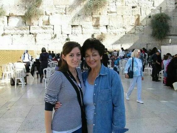 At the wailing wall in Jerusalem 2008