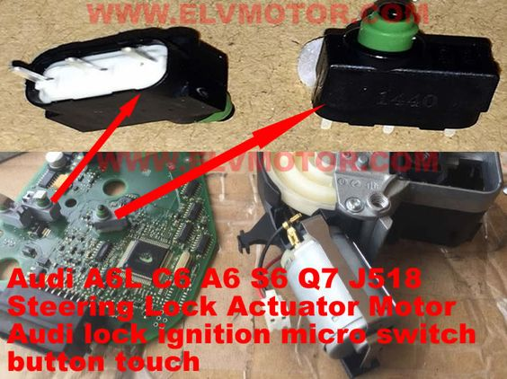 Audi A6l C6 A6 S6 Q7 J518 4f0 905 852 B Lock Ignition Micro Switch Audi Switch Wheel Lock