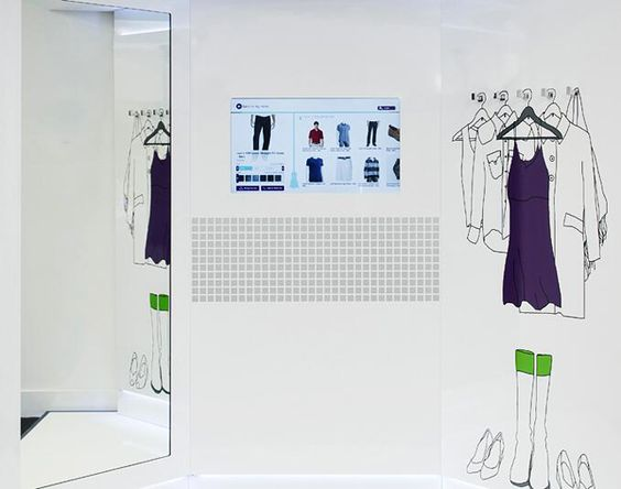 You have to check out this smart fitting room.