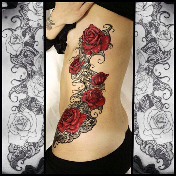 pizzo tatuaggi rosa tatuaggi di rose and rose on pinterest. Black Bedroom Furniture Sets. Home Design Ideas