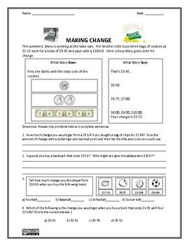 Pre School Worksheets : counting money change worksheets Counting ...