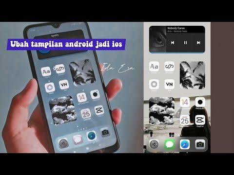 Ios 14 On Android Cara Ubah Tampilan Android Jadi Ios 14 Aesthetic Phone Youtube Ios Android