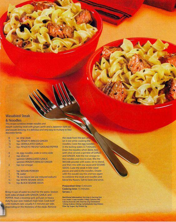 Wasabied Steak & Noodles
