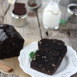 Double Chocolate Banana Bread - the addition of intense dark cocoa and bitter sweet chocolate makes it delectable
