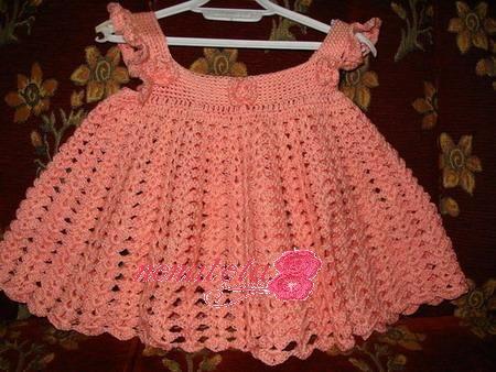فساتين كروشية أطفال 2014 Crochet: