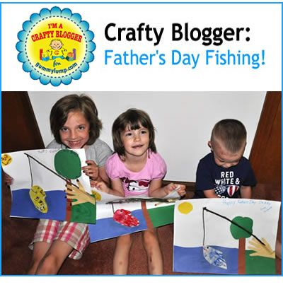 #Craft for Kids: Make a Father's Day Fishing Work of Art! Written by @lifesimplyfabulous for #gummylump