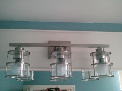 Shop allen + roth 3-Light Satin Nickel Bathroom Vanity Light at ...