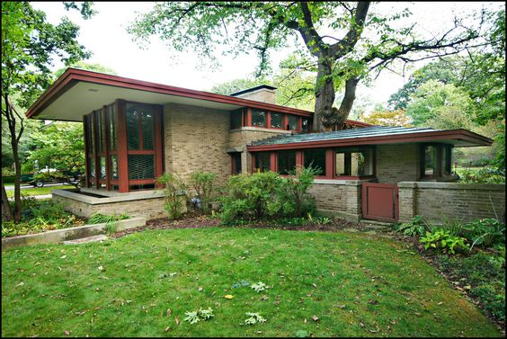 Isabel Roberts House. 1908. River Forest, Illinois. Prairie Style. Frank Lloyd Wright