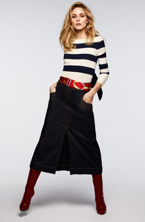 Olivia Palermo + Chelsea28 Stripe Wool & Cashmere Pullover: