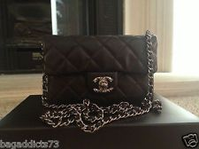 NIB AUTHENTIC 2012 CHANEL WALLET ON CHAIN WITH SILVER HARDWARE..WOC