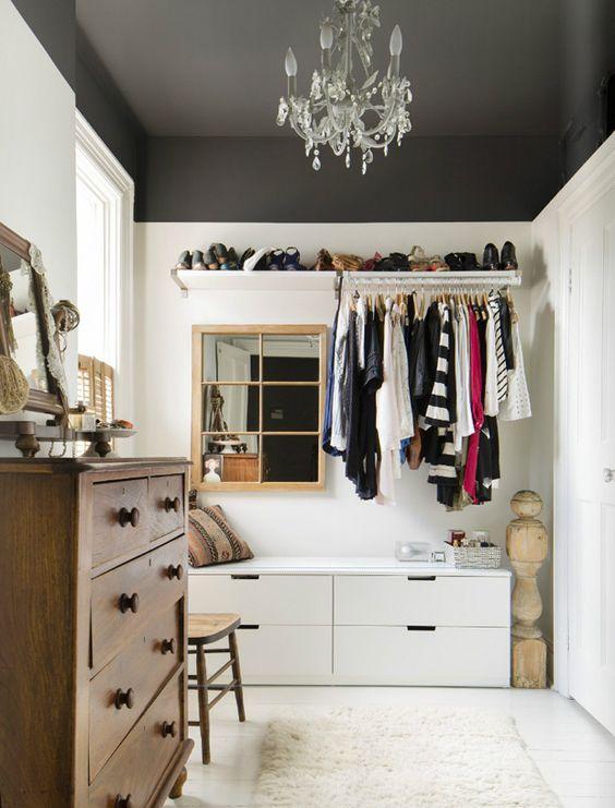 Quarto vazio inspiração para utilizar como closet
