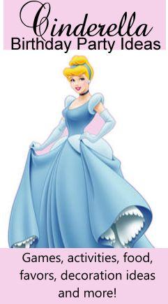 Cinderella Birthday Theme   Birthday Party Ideas for Kids