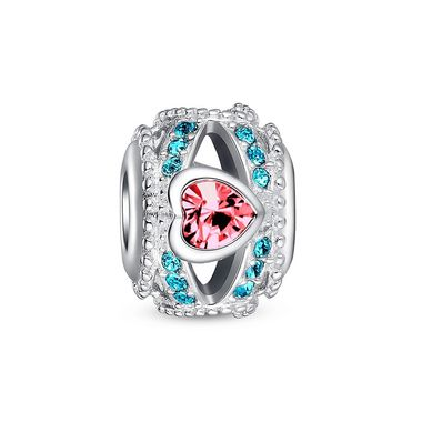 """Red and blue heart openwork charm ❤ #Glamulet jewelry,fits all brands bracelet. Wonderful gifts for family, lover, friends...Get 5% off on www.glamulet.com with coupon code """"PIN5"""""""