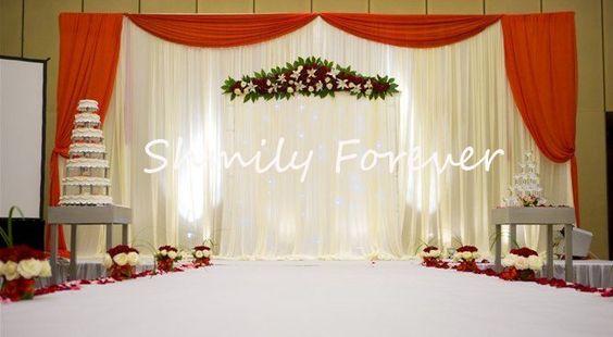 Einfach Weiß + Rot Hochzeit Ceremoney Kulissen mit pleats brautkleider vorhänge für dekor in willkommen zu unserem Speichershmily immer kleinen auftrag Großhandel/Ladengeschäftstil keine.: wb-010 aus Event & Party Supplies auf AliExpress.com | Alibaba Group
