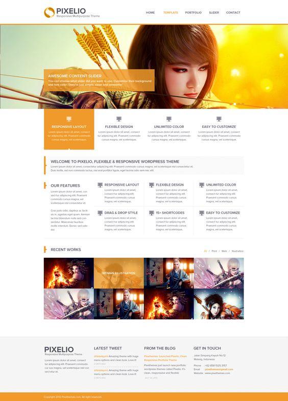 Pixelio - Responsive Portfolio Theme by faizalqurni.deviantart.com